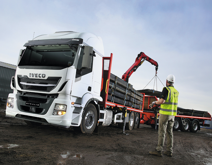 GT Trax has taken delivery of a 26-tonne Iveco Stralis rigid with HI-SCR technology – featuring custom bodywork and rear-mounted crane for laying temporary road surfaces.